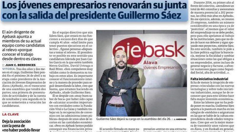 Ajebask-Álava renovará su junta con la salida del presidente Guillermo Sáez Viana
